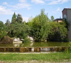 Fontaine, jardins Lycée Agricole de Gignac