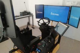 Simulateur de conduite d'engins agricoles