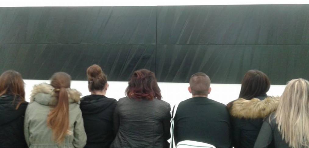 Les étudiants au Musée Fabre